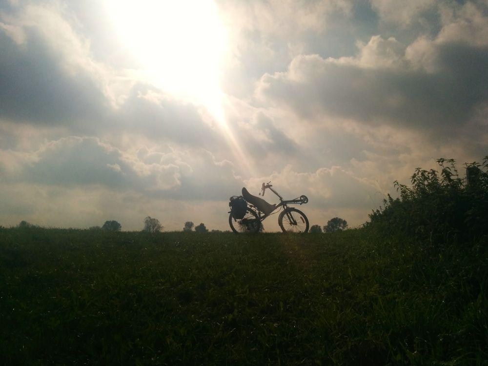 Mooi fietsweer vandaag!  :-)