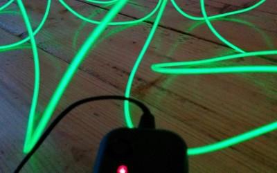EL-wire voor de zijkanten van de fiets
