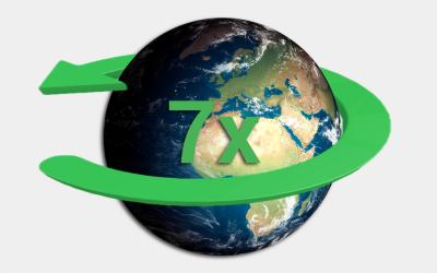 7 x de wereld rond
