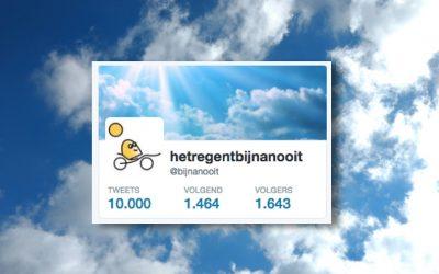 10000 tweets van @bijnanooit