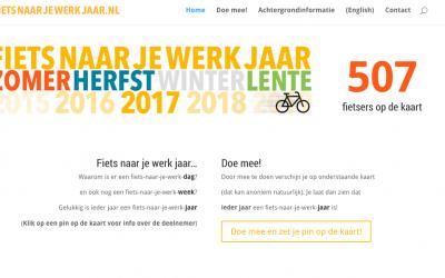 """Al 500+ """"deelnemers"""" aan fietsnaarjewerkjaar.nl"""