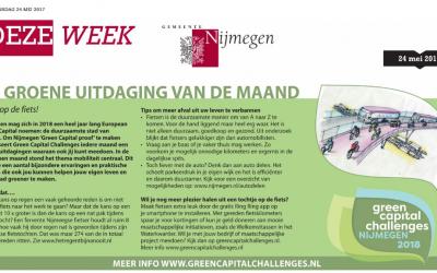 Op de fiets in Nijmegen (Green Capital Challenges)